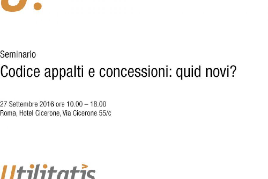 Codice appalti e concessioni: quid novi?