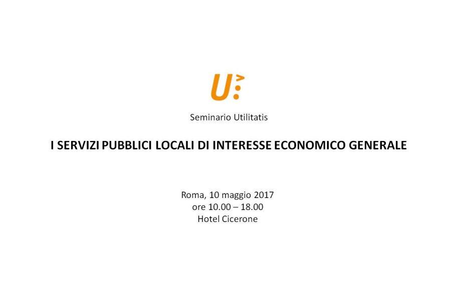 I servizi pubblici locali di interesse economico generale