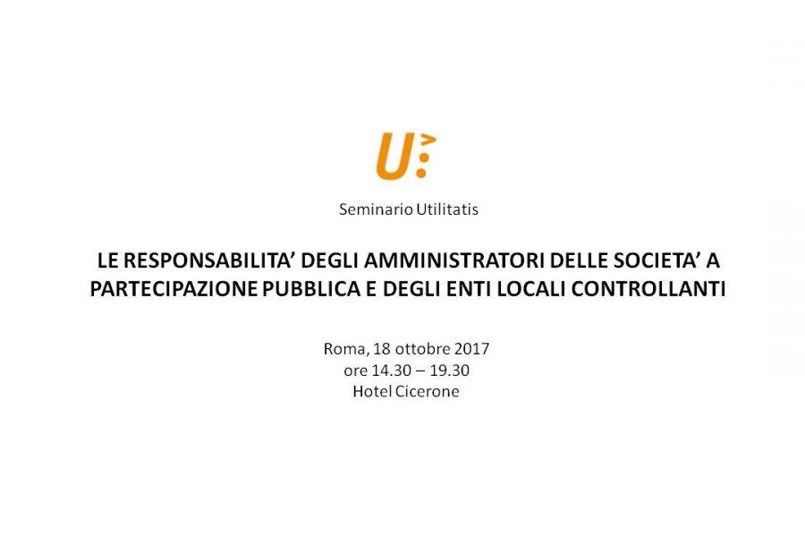 Seminario Utilitatis del 18 Ottobre 2017